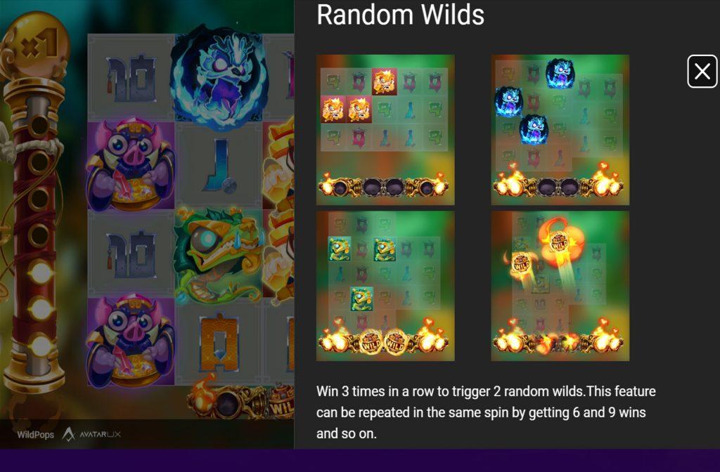 Bij de WildPops gokkast zijn er diverse bonussen aanwezig waaronder vermenigvuldigers