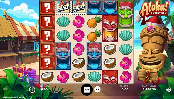Aloha Christmas van NetEnt Gameplay