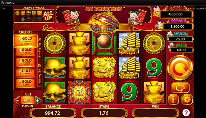 88 Fortunes gameplay