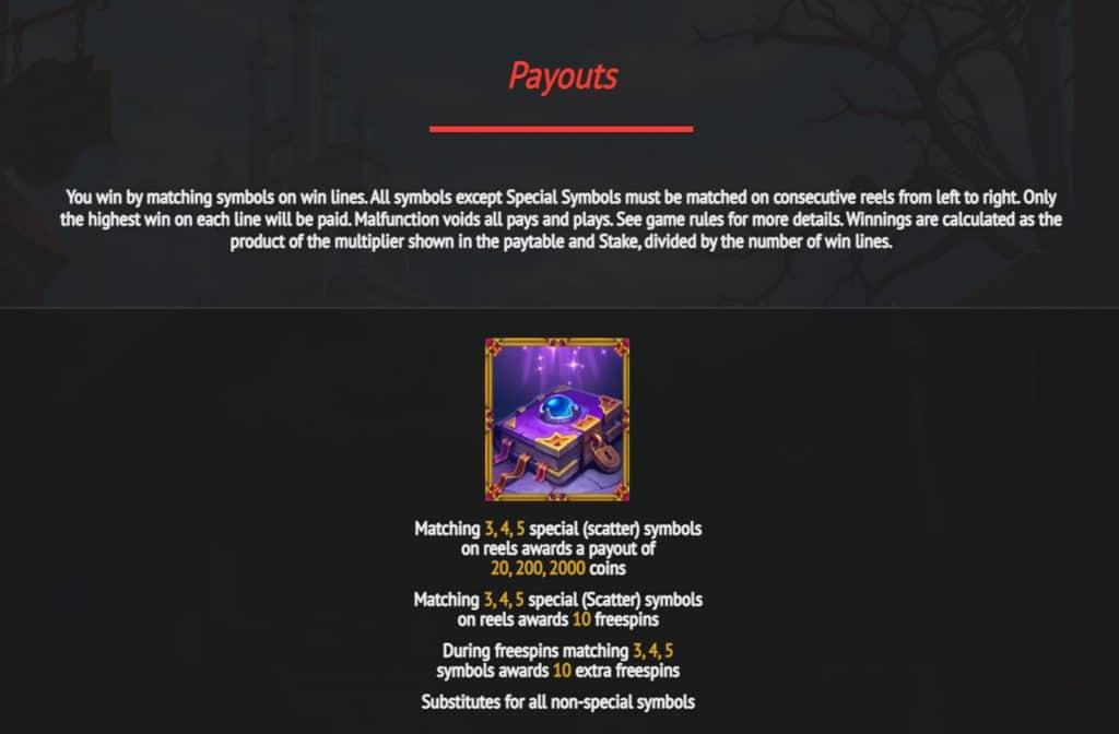 Wat de betreffende symbolen waard zijn kun je zien in de prijzentabel
