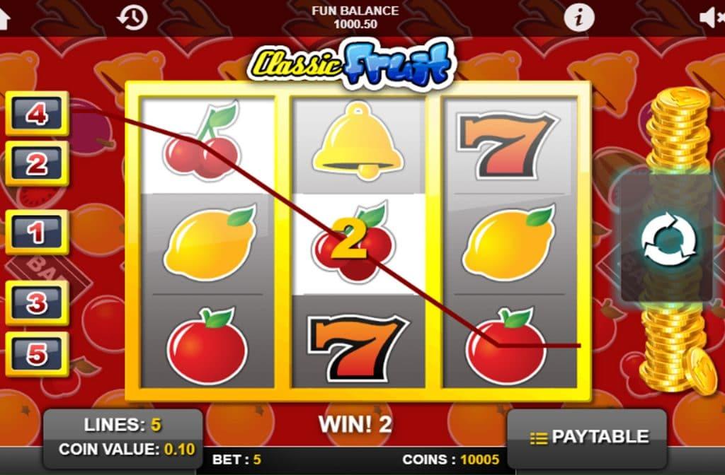 De Classic Fruit gokkast is ontwikkeld door spelprovider 1x2 Gaming