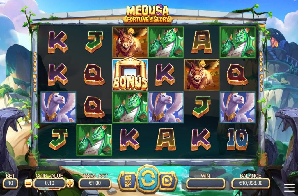 De Medusa Fortune & Glory gokkast is ontwikkeld door spelprovider Yggdrasil
