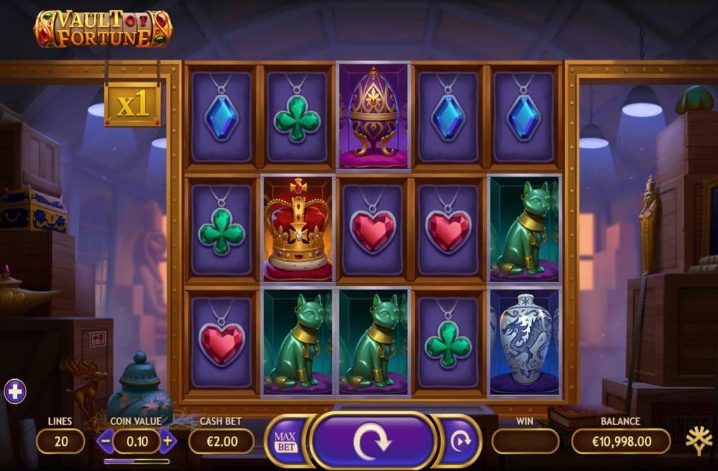 De Vault of Fortune gokkast is ontwikkeld door spelprovider Yggdrasil