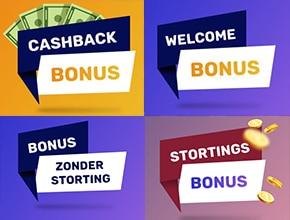 kies een bonus die bij je past